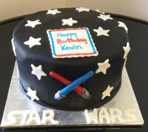 Star Wars Light Sabre Cake