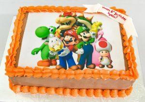 Mario Bros Edible Image Birthday Cake