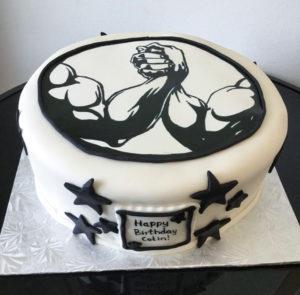 Arm Wrestling Birthday Cake