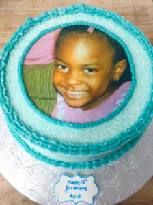 Custom Photo Edible Image Birthday Cake
